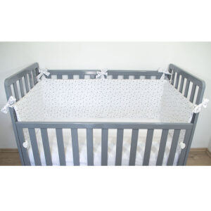 Monteks ogradica za krevetić – krem zvjezdice, 15038