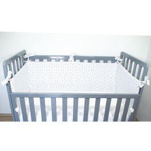 Monteks ogradica za krevetić – sive zvjezdice, 15038