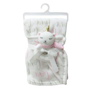 """Jungle dekica s igračkom """"Mačka"""" – bijela, 15070"""