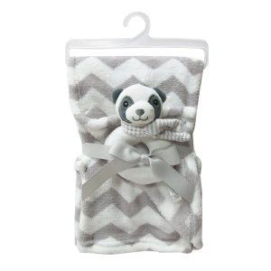 """Jungle dekica s igračkom """"Panda"""" – bijelo-siva, 15071"""