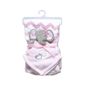 """Jungle dekica s igračkom """"Slonica"""" – roza, 15067"""