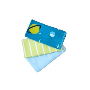 Krpice za brisanje 3/1 – zeleno-plave, 13272