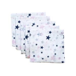 Tetra pelena 1kom – plavo-roze zvjezdice, K10993