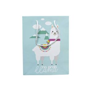 """Ukrasna vrećica """"Llama"""" – plava, 13185"""