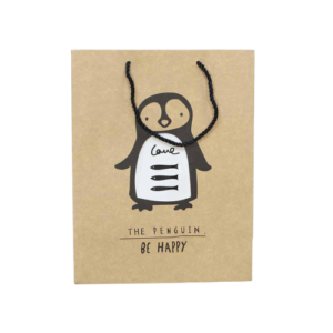 "Ukrasna vrećica ""Be happy"" – smeđa, 13188"