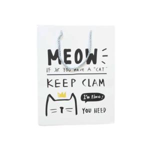 """Ukrasna vrećica """"Meow"""" – bijela, 13188"""