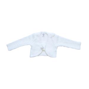 Artex baby pleteni bolero – bijeli, 15619