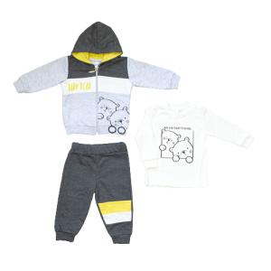 "Pelops komplet 3/1 ""Baby bear"" – sivi, 15758"
