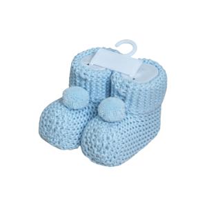 Necix's baby pletene papučice – plave, 15808