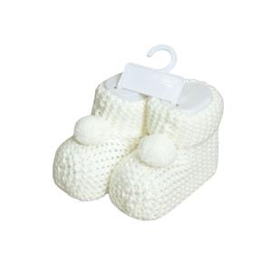 Necix's baby pletene papučice – bijele, 15808